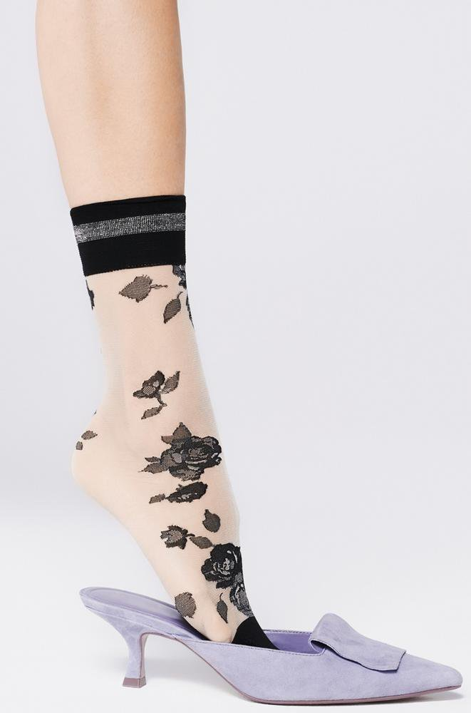 Florence linen ankle highs by FiORE