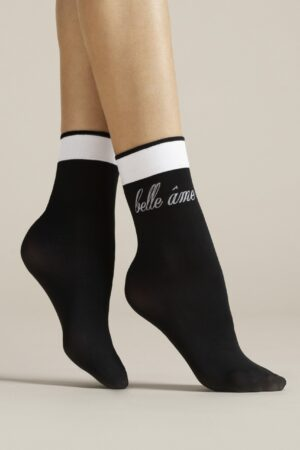 Belle âme FiORE patterned ankle highs