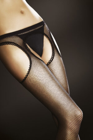 FiORE Passion Suspender fishnet tights