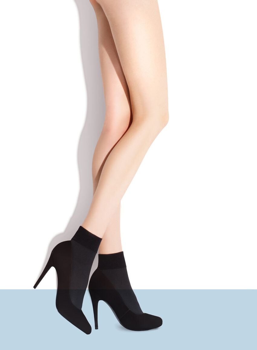 FiORE RIA opaque classic ankle highs