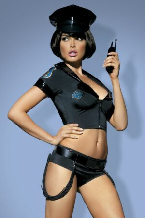 Sexy-police officer costume set- Obsessive-Halloween