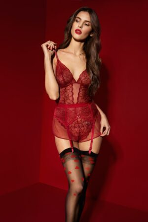 FiORE Alice stocking red patterns