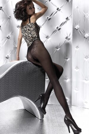 Lena FiORE patterned tights black