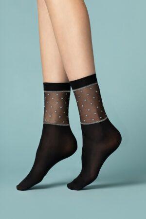 Fiore Prima Neve Socks patterned lurex