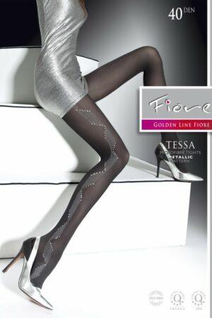 Tessa FiORE sparkling metallic pattern tights