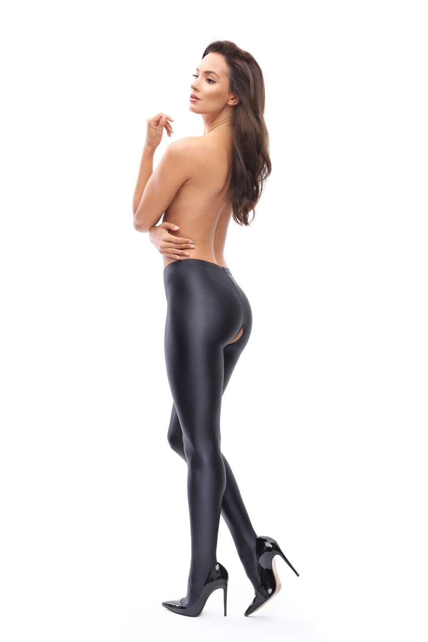 Misso P800 Glossy Opaque Open Crotch Pantyhose