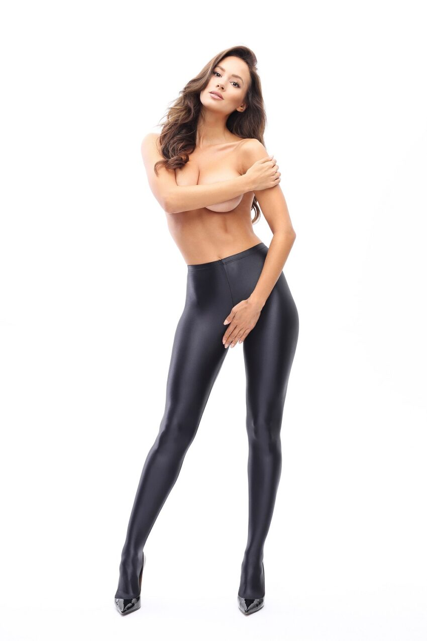 Misso P800 Glossy Open Crotch Opaque Pantyhose