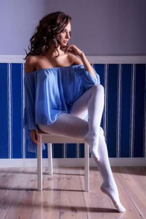Glamory Ouvert 60 Open Tights White